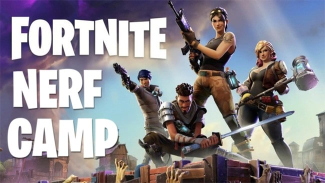 Fortnite Camp and Fortnite Birthday Parties