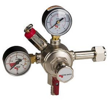 CO2 Fills are regulated in your Kegerators system with a CO2 regulator.