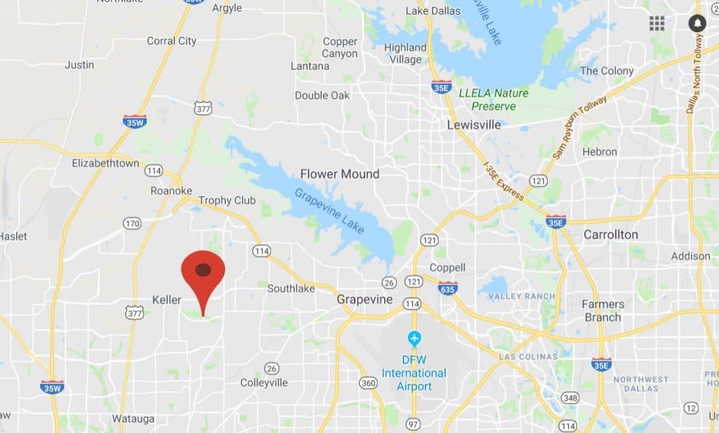 Map of Keller Location
