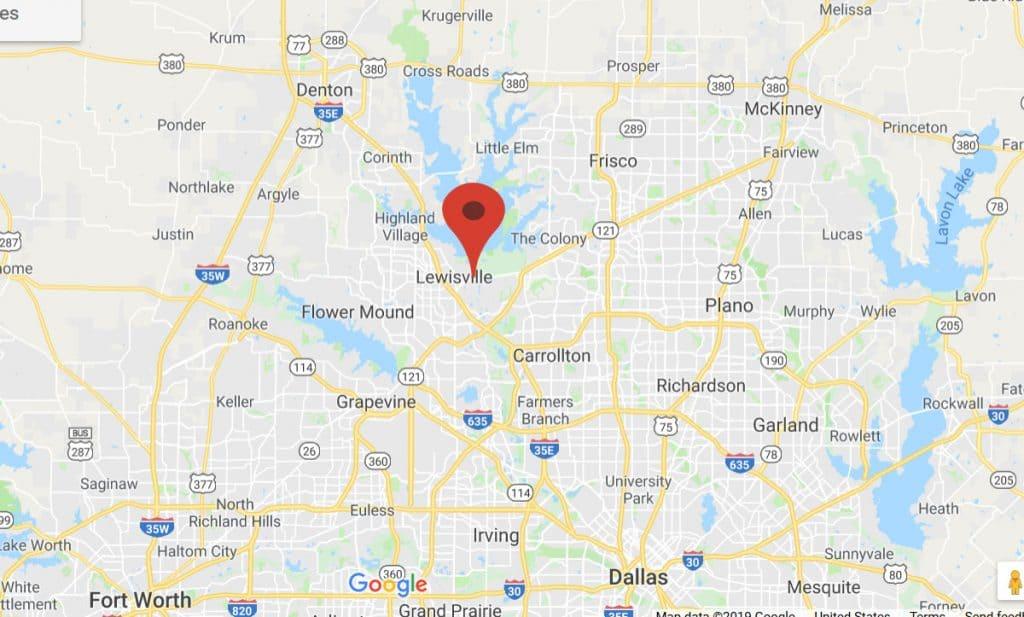 Map of Lewisville GatSplat