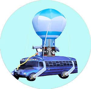 Fortnite Battle Bus made from paintball box