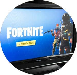 fortnite projected on tv