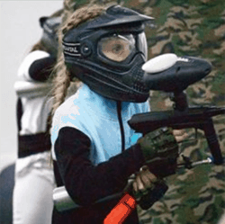 Girls play paintball all the time at our indoor fields.