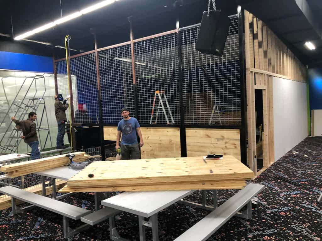 Our Axe Throwing location inside GatSplat Lewisville